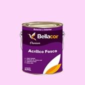 Tinta Acrílica Fosca Premium A04 Rosa Frio 3,2L Bellacor