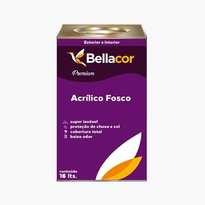 Tinta Acrílica Fosca Premium A13 Lua de Prata 16L Bellacor