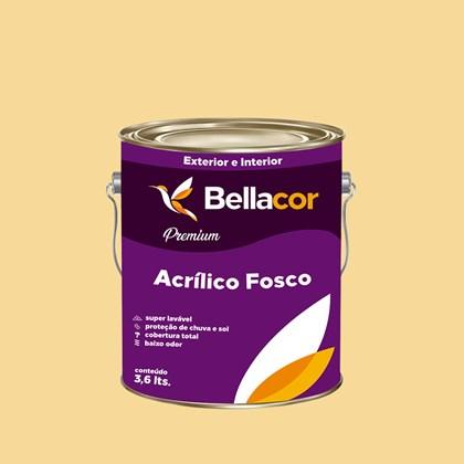 Tinta Acrílica Fosca Premium A30 Amarelo 3,2L Bellacor