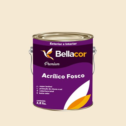 Tinta Acrílica Fosca Premium A56 Laranja Nobre 3,2L Bellacor
