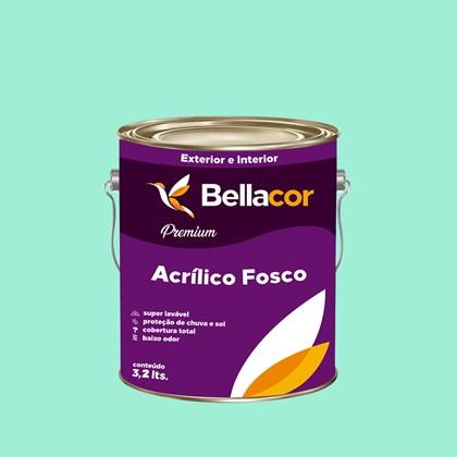 Tinta Acrílica Fosca Premium A63 Verde Paradisíaco 3,2L Bellacor
