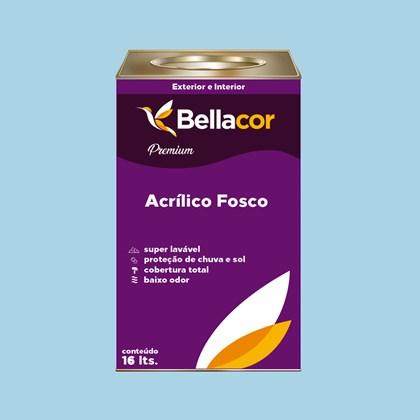 Tinta Acrílica Fosca Premium A84 Azul Francia 16L Bellacor