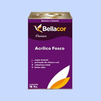 Tinta Acrílica Fosca Premium A89 Azul Citrino 16L Bellacor