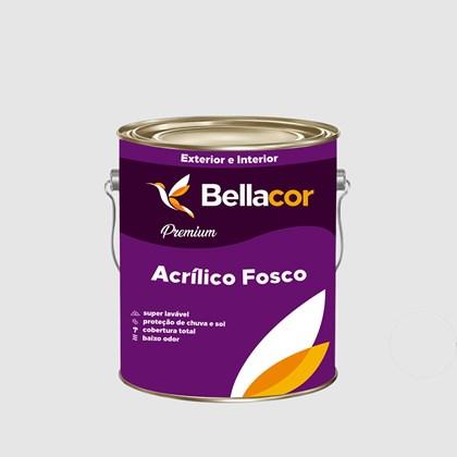 Tinta Acrílica Fosca Premium A96 Cinza Alumínio 3,2L Bellacor