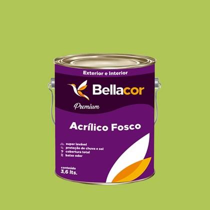 Tinta Acrílica Fosca Premium B08 Verde Limão 3,2L Bellacor