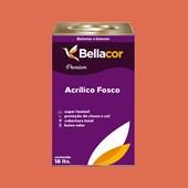 Tinta Acrílica Fosca Premium B17 Vermelho Fogueira 16L Bellacor