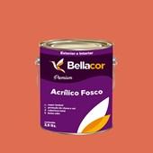 Tinta Acrílica Fosca Premium B17 Vermelho Fogueira 3,2L Bellacor