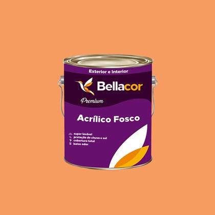 Tinta Acrílica Fosca Premium B30 Laranja Claro 3,2L Bellacor