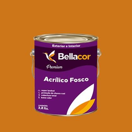 Tinta Acrílica Fosca Premium B41 Dourado 3,2L Bellacor