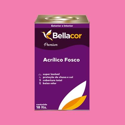 Tinta Acrílica Fosca Premium B50 Rosa Flory 16L Bellacor