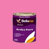 Tinta Acrílica Fosca Premium B50 Rosa Flory 3,2L Bellacor