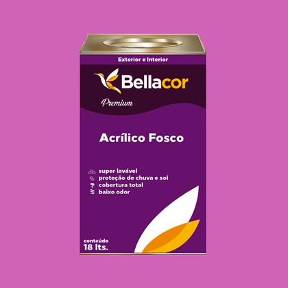 Tinta Acrílica Fosca Premium B51 Rosa Pink 16L Bellacor