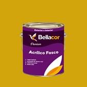 Tinta Acrílica Fosca Premium B52 Amarelo Dourado 3,2L Bellacor