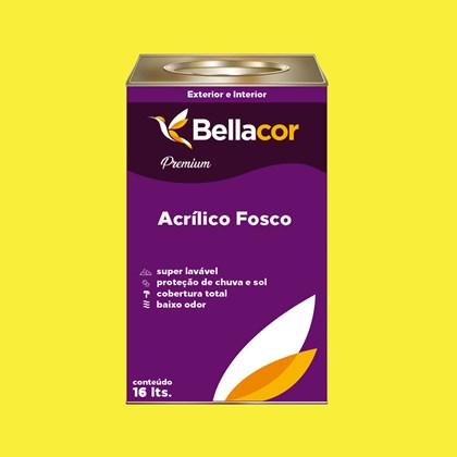Tinta Acrílica Fosca Premium B53 Amarelo Animado 16L Bellacor