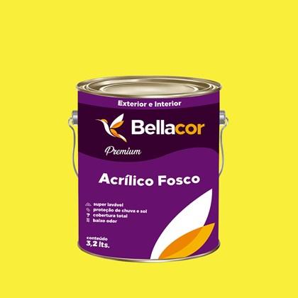 Tinta Acrílica Fosca Premium B53 Amarelo Animado 3,2L Bellacor