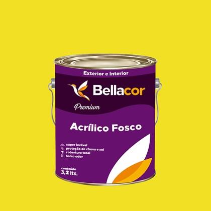 Tinta Acrílica Fosca Premium B54 Amarelo Limão 3,2 Bellacor