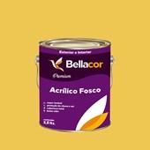Tinta Acrílica Fosca Premium B65 Mostarda Americana 3,2L Bellacor