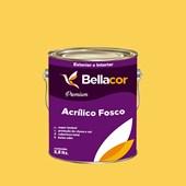 Tinta Acrílica Fosca Premium B66 Mostarda 3,2L Bellacor