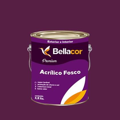 Tinta Acrílica Fosca Premium C01 Creme de Ameixa 3,2L Bellacor