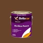 Tinta Acrílica Fosca Premium C109 Chocolate Amargo 3,2L Bellacor