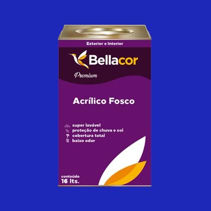 Tinta Acrílica Fosca Premium C11 Azul Safira 16L Bellacor