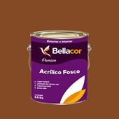 Tinta Acrílica Fosca Premium C110 Marrom Bombom 3,2L Bellacor