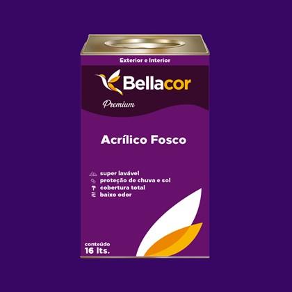 Tinta Acrílica Fosca Premium C13 Roxo Vitória 16L Bellacor