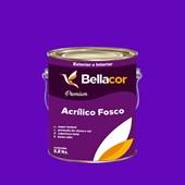 Tinta Acrílica Fosca Premium C15 Roxo 3,2L Bellacor