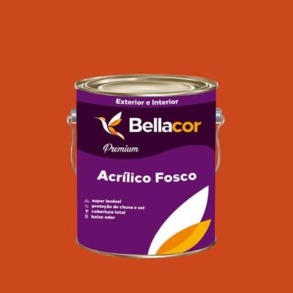 Tinta Acrílica Fosca Premium C16 Vermelho 3,2L Bellacor
