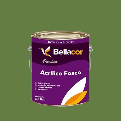 Tinta Acrílica Fosca Premium C19 Verde Jacaré 3,2L Bellacor