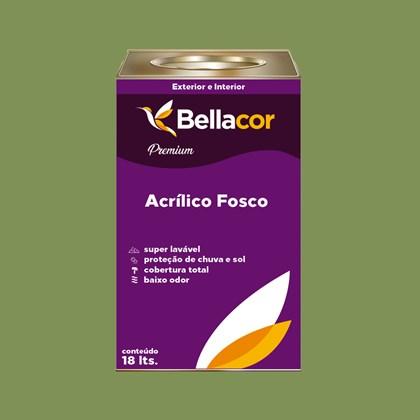 Tinta Acrílica Fosca Premium C20 Verde Pasto 16L Bellacor