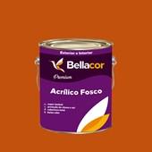 Tinta Acrílica Fosca Premium C28 Laranja 3,2L Bellacor