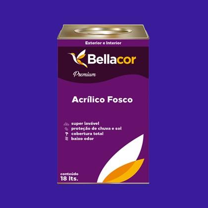 Tinta Acrílica Fosca Premium C36 Azul Radiante 16L Bellacor