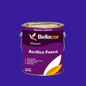 Tinta Acrílica Fosca Premium C36 Azul Radiante 3,2L Bellacor