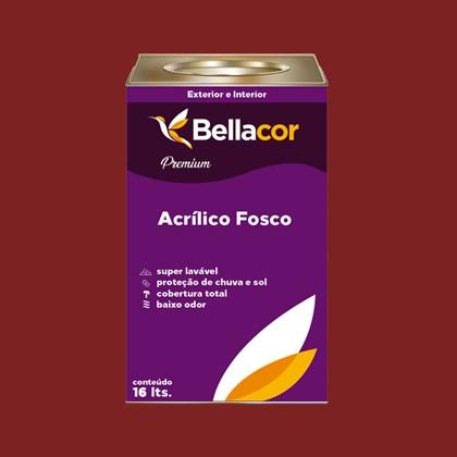 Tinta Acrílica Fosca Premium C37 Vermelho Sangue 16L Bellacor