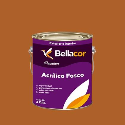 Tinta Acrílica Fosca Premium C40 Marrom Terra 3,2L Bellacor
