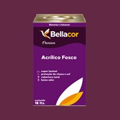 Tinta Acrílica Fosca Premium C61 Geleia de Ameixa 16L Bellacor