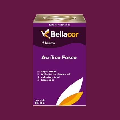 Tinta Acrílica Fosca Premium C62 Framboesa 16L Bellacor
