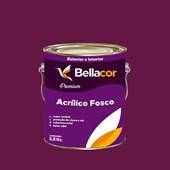 Tinta Acrílica Fosca Premium C62 Framboesa 3,2L Bellacor