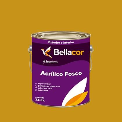 Tinta Acrílica Fosca Premium C64 Amarelo Queimado 3,2L Bellacor