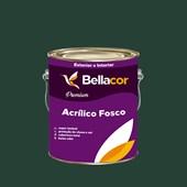 Tinta Acrílica Fosca Premium C67 Verde Escuro 3,2L Bellacor