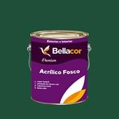 Tinta Acrílica Fosca Premium C68 Verde Floresta 3,2L Bellacor