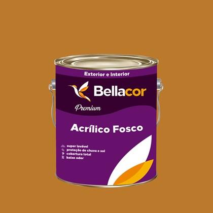 Tinta Acrílica Fosca Premium C76 Amarelo Ocre 3,2LBellacor