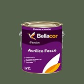 Tinta Acrílica Fosca Premium C79 Verde Musgo 3,2L Bellacor