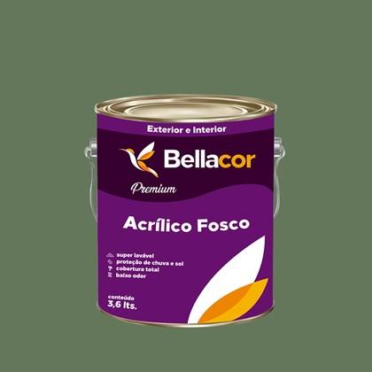 Tinta Acrílica Fosca Premium C81 Verde Hortelã 3,2L Bellacor