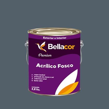 Tinta Acrílica Fosca Premium C82 Cinza Azulado 3,2L Bellacor