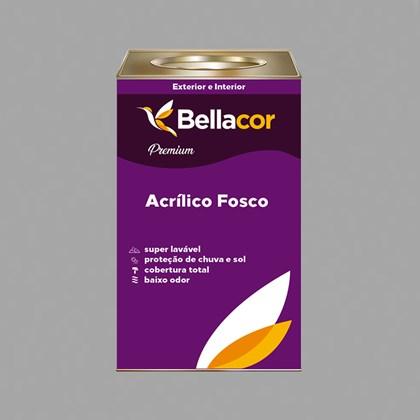 Tinta Acrílica Fosca Premium C84 Cinza Grafite 16L Bellacor