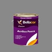 Tinta Acrílica Fosca Premium C84 Cinza Grafite 3,2L Bellacor