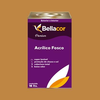 Tinta Acrílica Fosca Premium C88 Caramelo 16L Bellacor