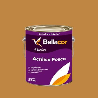 Tinta Acrílica Fosca Premium C88 Caramelo 3,2L Bellacor